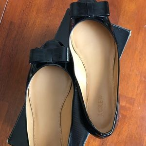 J Crew Harper Patent leather flats EUC